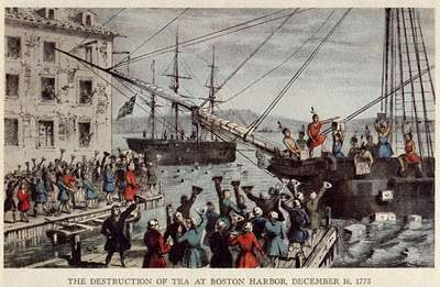 What tea was thrown overboard into Boston Harbor?