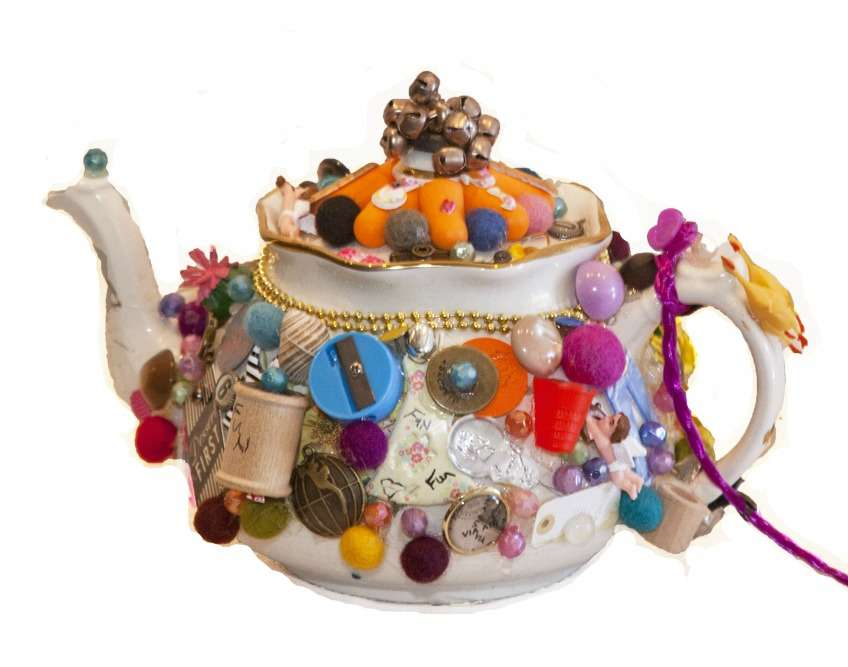 "The inspiration behind my ""Have Fun Teapot with Magneto-Bell Lid and Fuchsia Tail"""