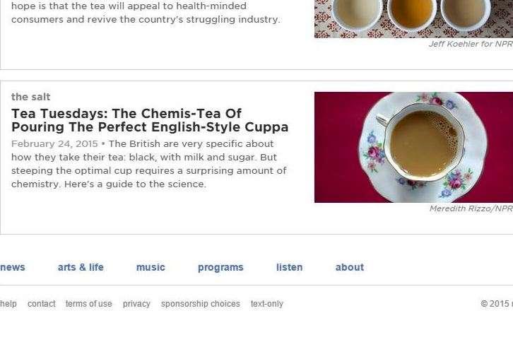 NPR launches tea Tuesdays