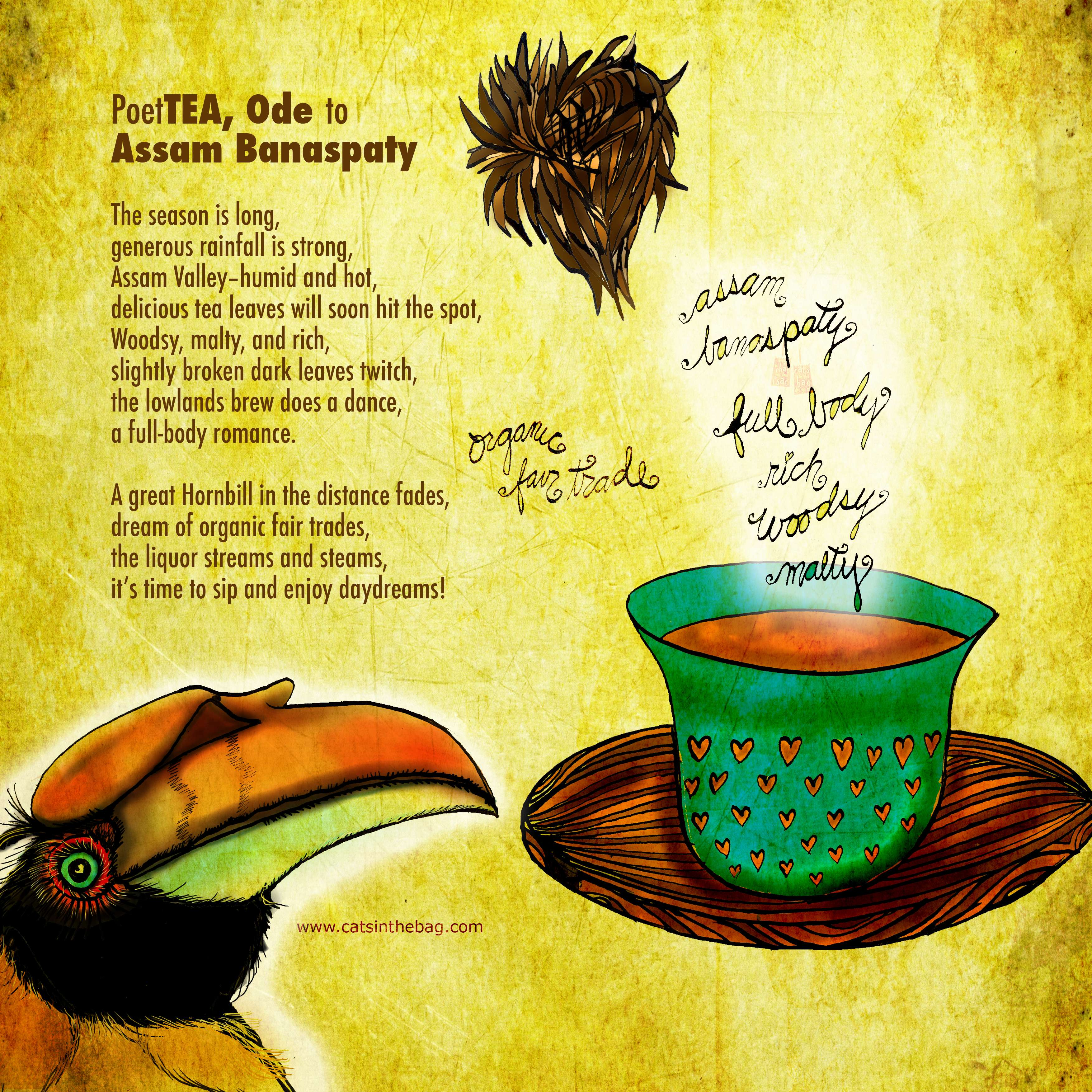 Illustrative PoeTEA: Assam Banaspaty
