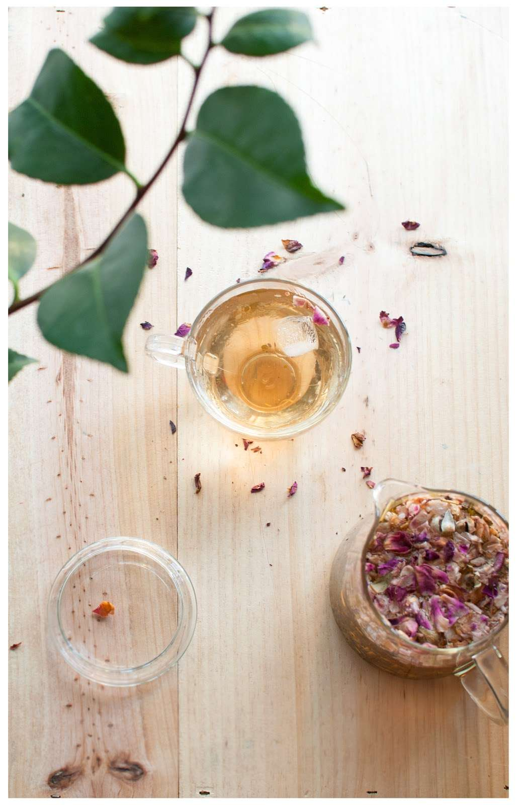 Tea Blending: Rose Petals and Tea Leaves