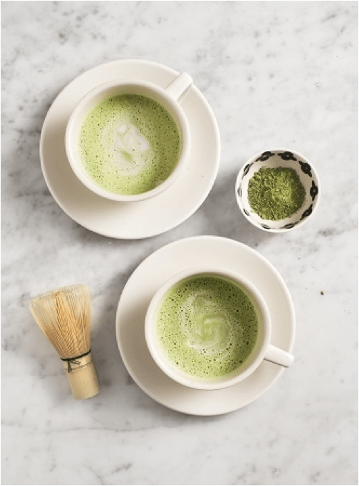 Blast From the Past: Matcha green tea latte with zen green tea matcha