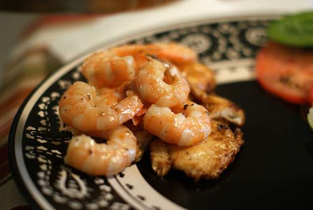 Spring. Shrimp. Sencha