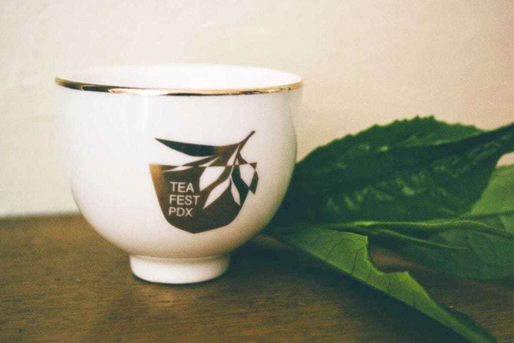Image of the special edition cup for the tea event
