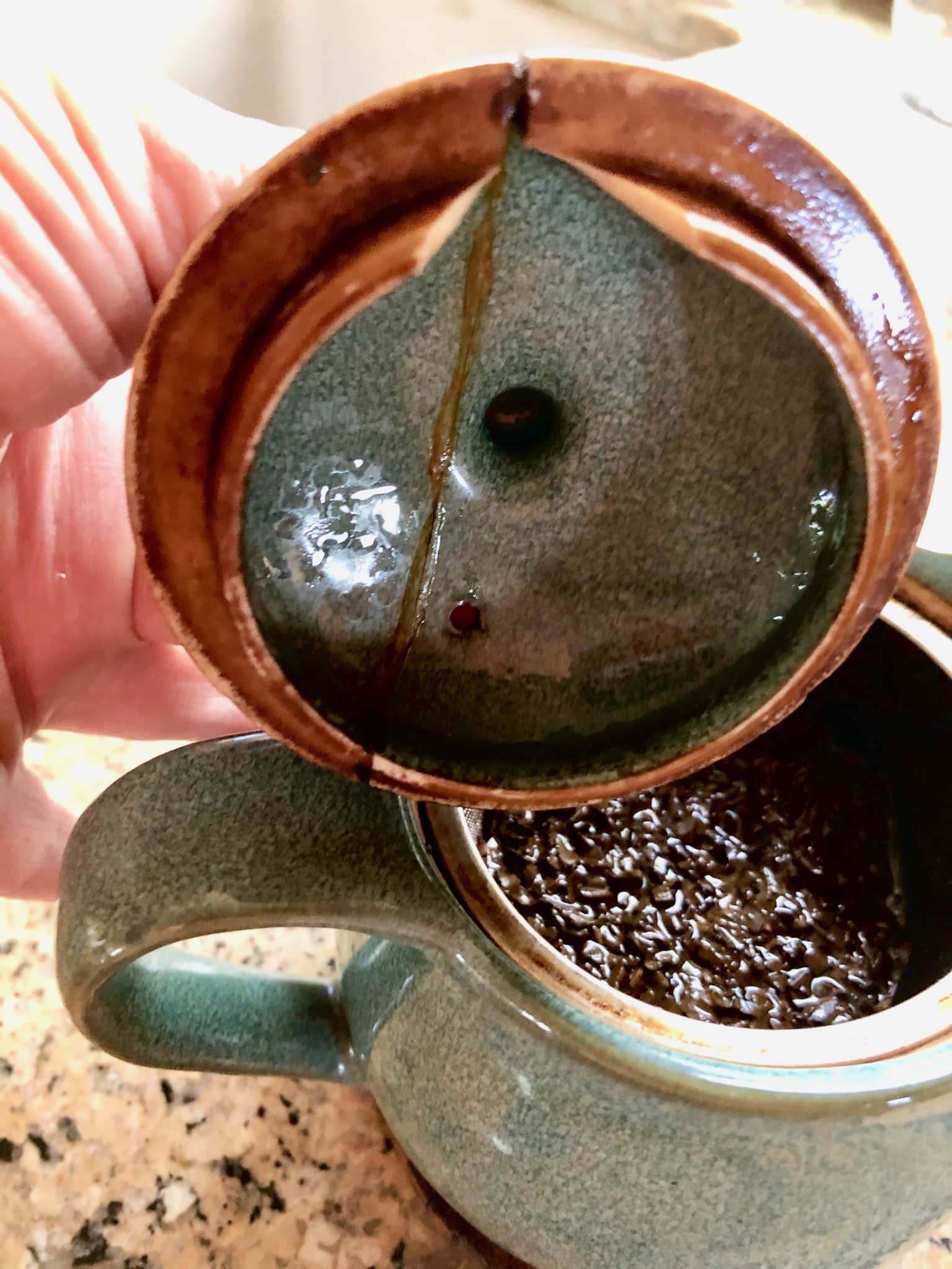 "When A Tea Person Moves - A photo of ""Jenna's teapot."""