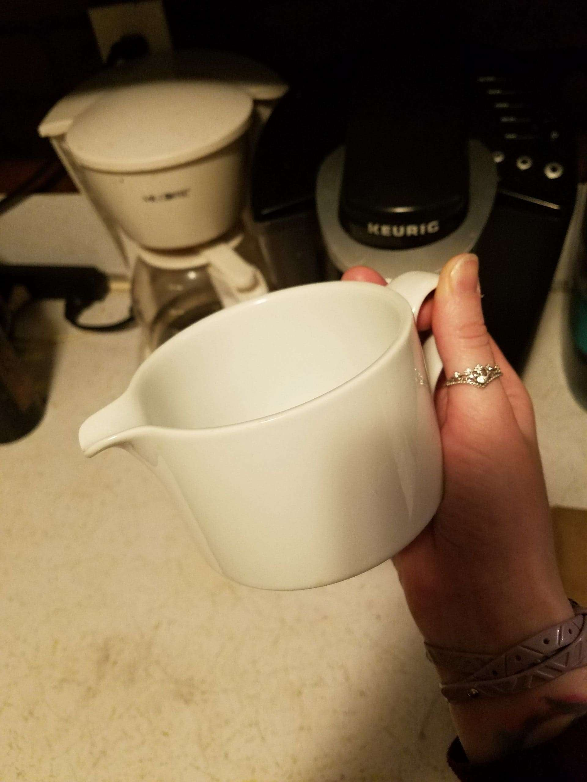 The Creamer Quest - A photo of a rather large creamer.