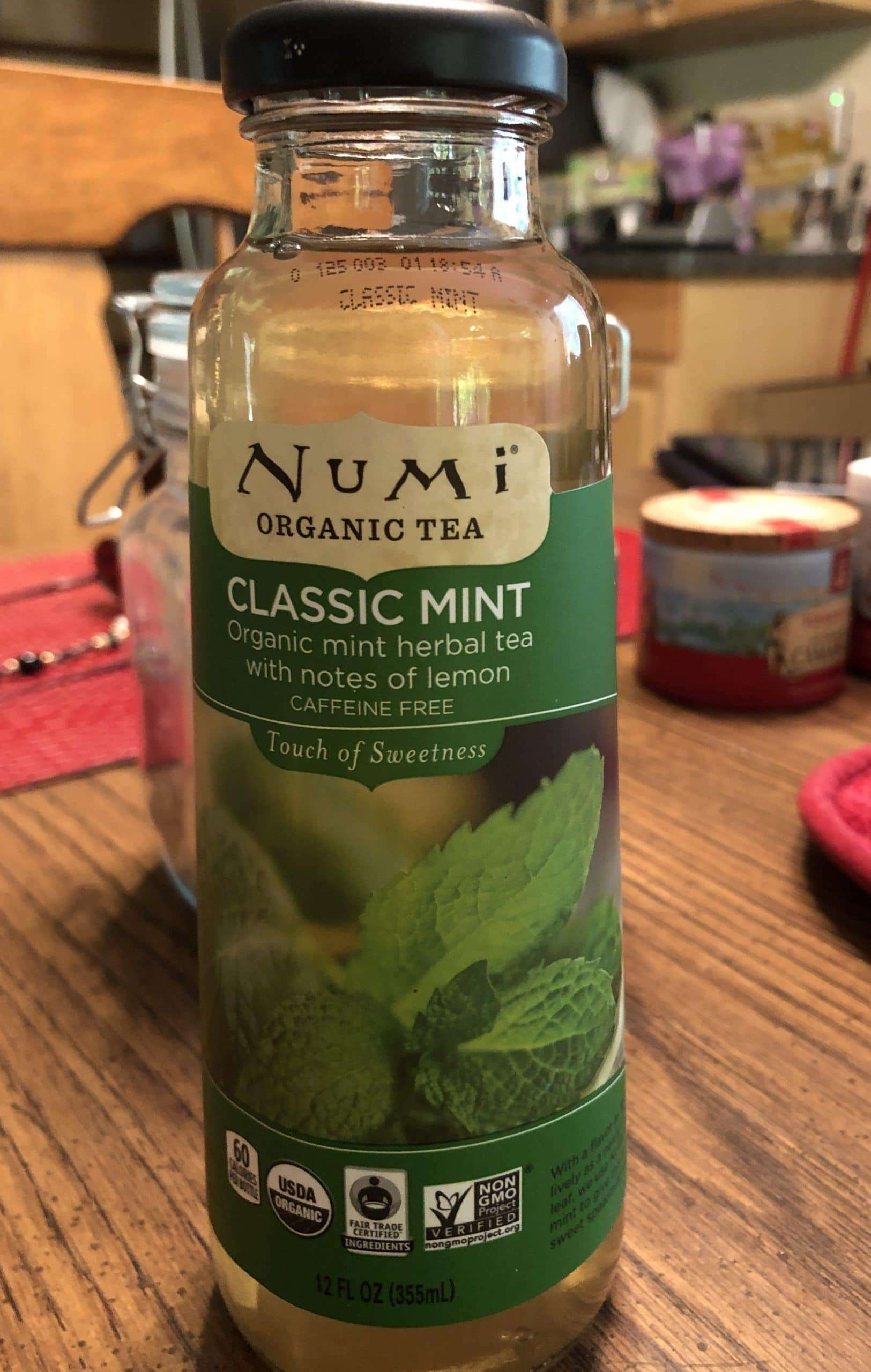 Ready-to-Drink Tea Poised to Surge - Photo of a bottle of Numi organic bottled tea 'classic mint'
