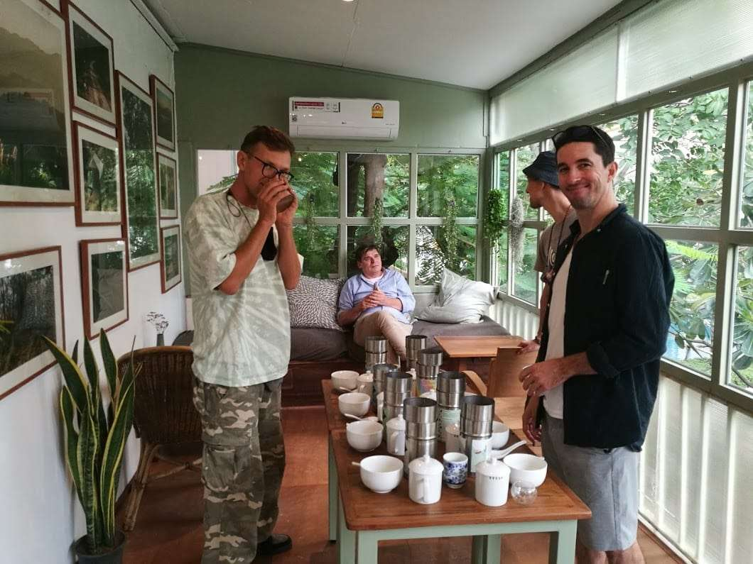 Biodiversity Research and Wild Origin Teas - Part 2 - Alexey at a table