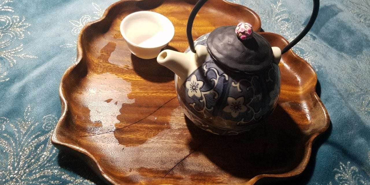 Updating an Old Teapot and Telephone Tea Date