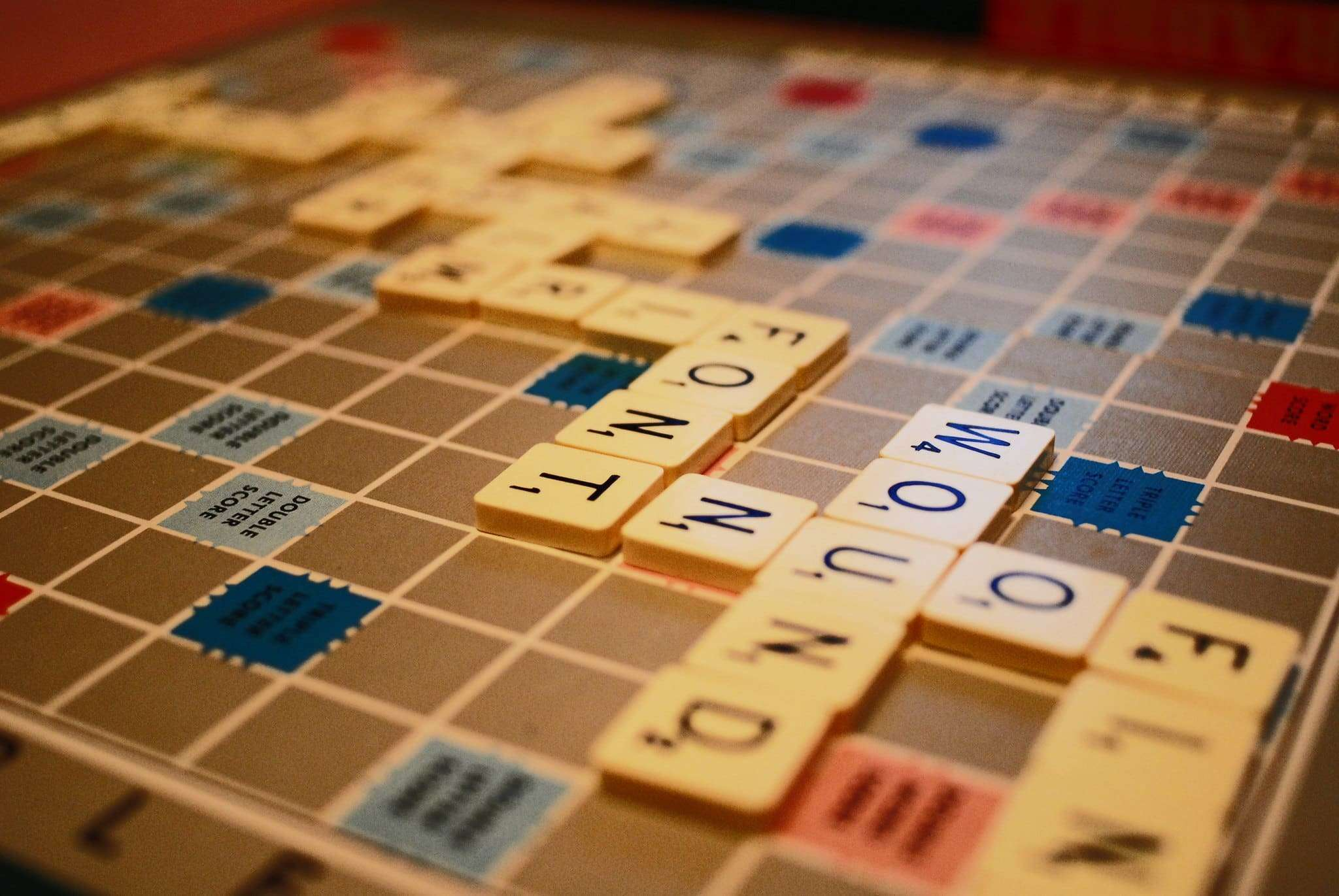 Online Scrabble with Oolong - Photo of scrabble board