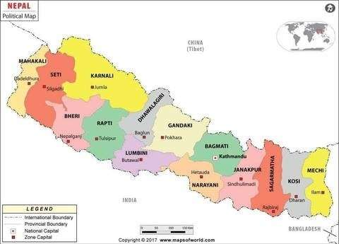 A Day In the Life at Nepal Tea's Family Farm - Map of Nepal